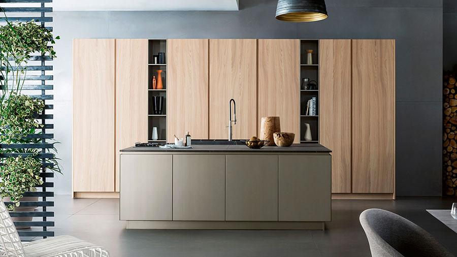 Modello di cucina lineare di design di TmItalia n.5