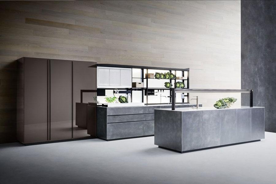 Modello di cucina lineare di design di Valcucine n.2