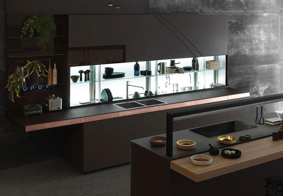 Modello di cucina lineare di design di Valcucine n.3