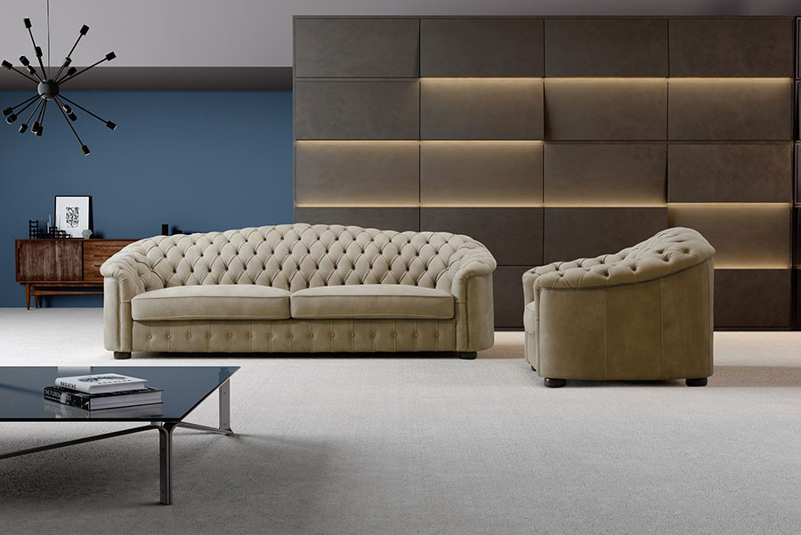 Modello di divano di lusso Ped Artigiani Italia n.02