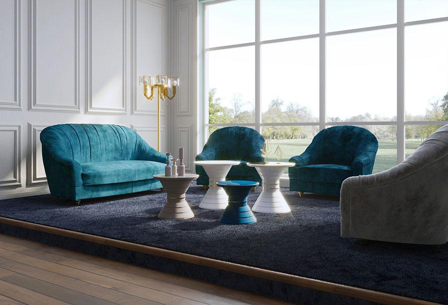 Modello di divano di lusso Vismara Design n.01