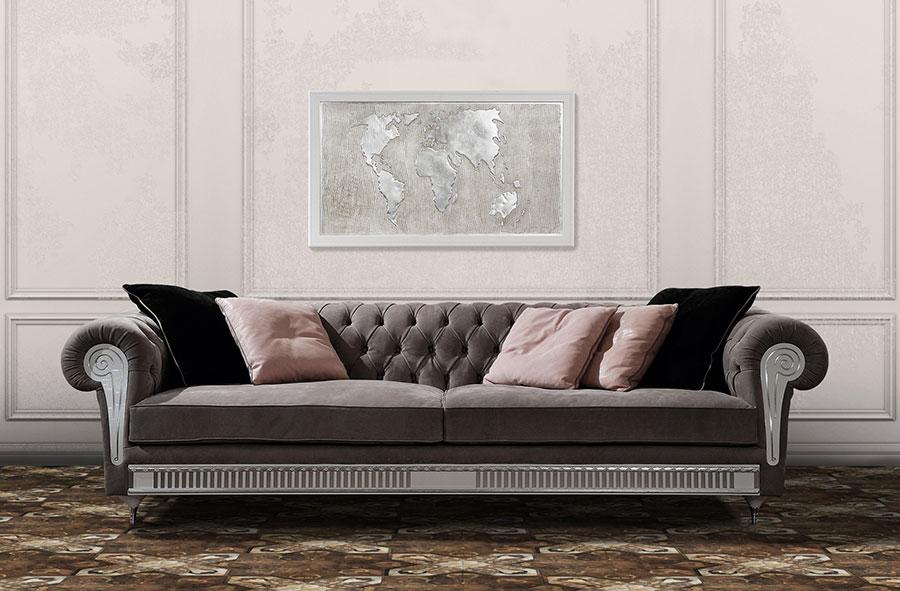 Modello di divano di lusso Vismara Design n.02