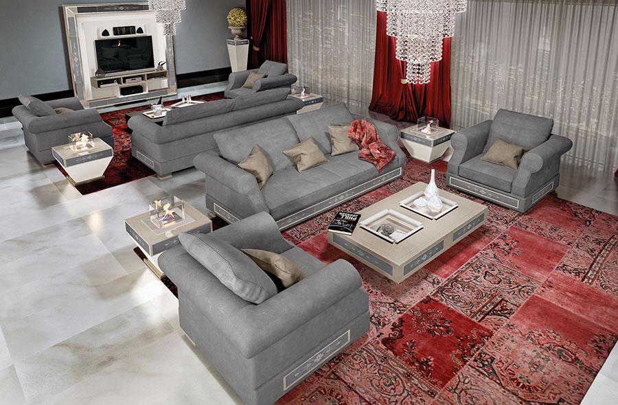 Modello di divano di lusso Vismara Design n.03