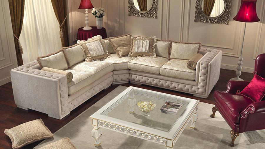 Modello di divano di lusso Ravasi Salotti n.3