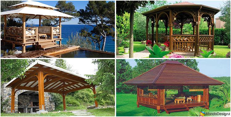 Gazebo in legno tanti modelli per giardini da sogno for Gazebo legno arredamento