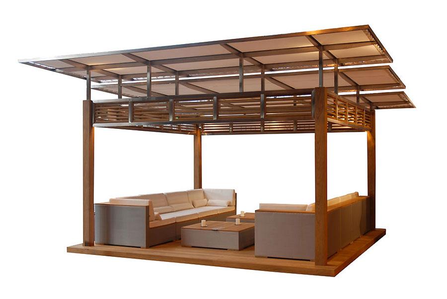Modello di gazebo in legno di HoneyMoon n.1