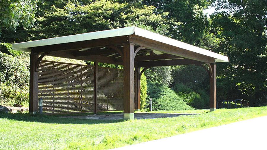 Modello di gazebo in legno di Proverbio Design n.2