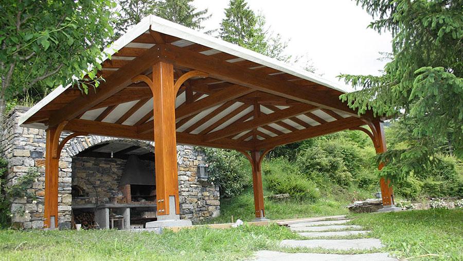 Modello di gazebo in legno di Proverbio Design n.3