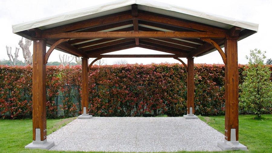 Modello di gazebo in legno di Proverbio Design n.4
