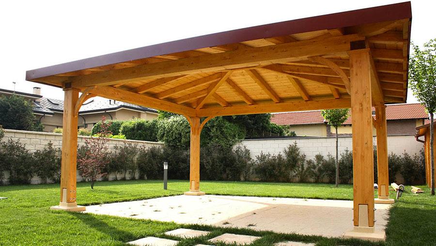 Modello di gazebo in legno di Proverbio Design n.7