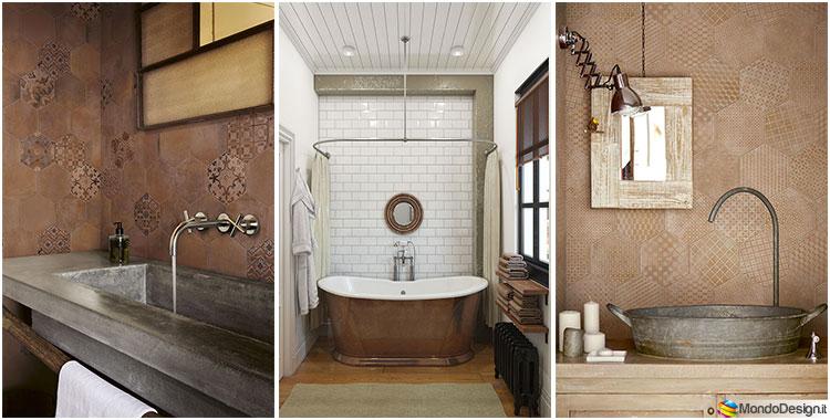 Bagno vintage 20 idee di arredamento originali - Bagno arredamento piastrelle ...