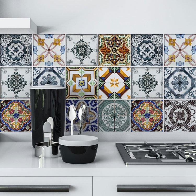 Piastrelle adesive per cucina 30 tipi di rivestimenti in vendita online - Piastrelle adesive per cucina ...