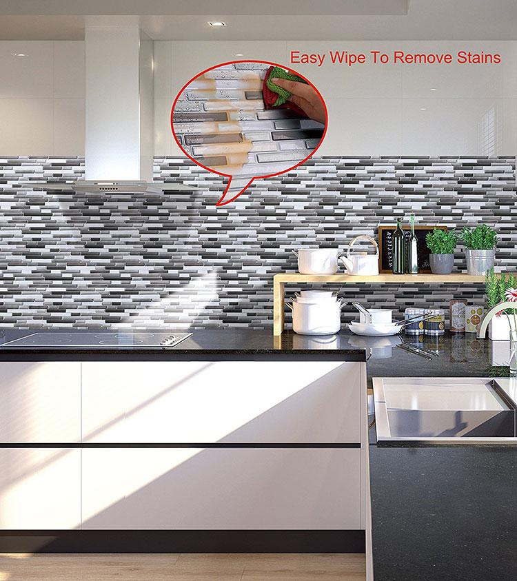 Piastrelle adesive per cucina 30 tipi di rivestimenti in vendita online - Mosaico per cucina ...