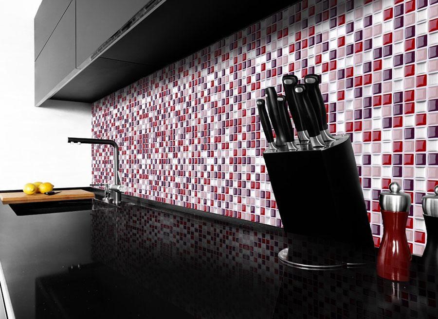 Modello di piastrelle adesive per cucina effetto mosaico n.03