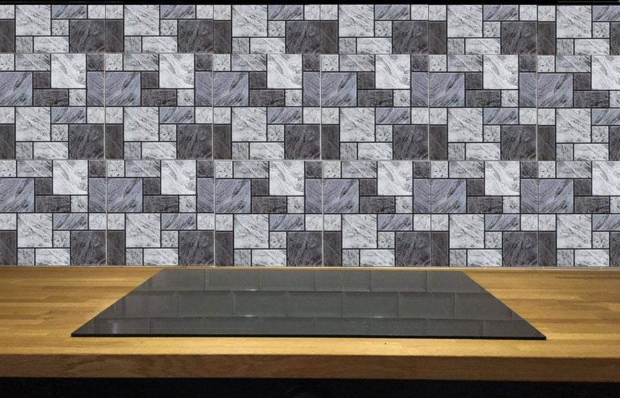 Modello di piastrelle adesive per cucina effetto mosaico n.04