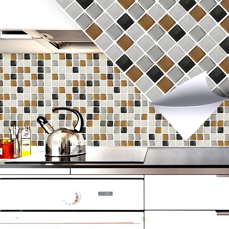 Modello di piastrelle adesive per cucina effetto mosaico n.05