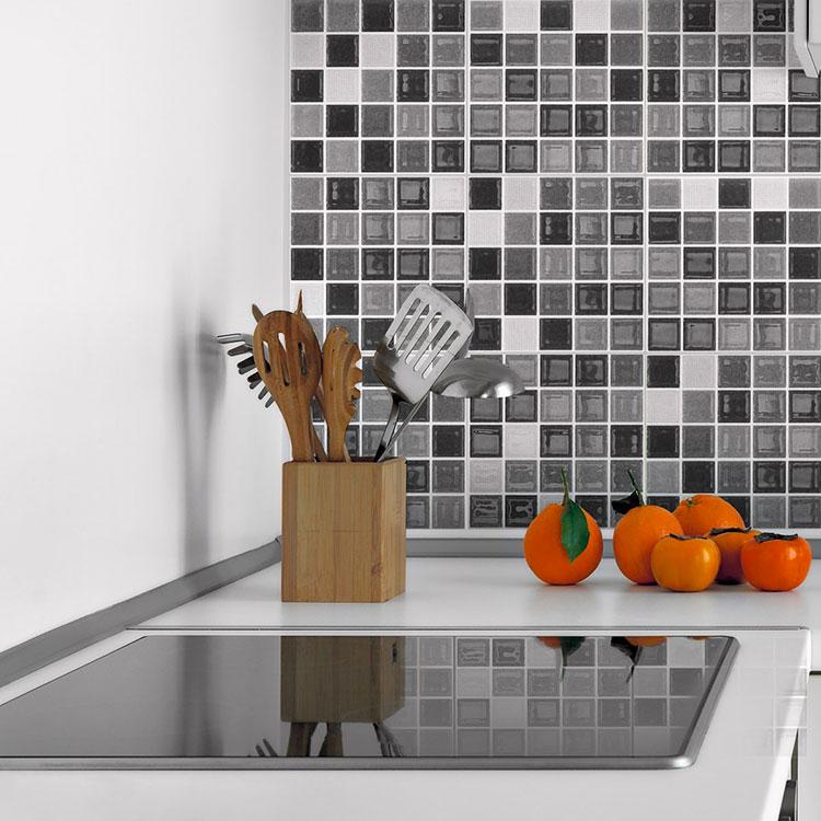 Modello di piastrelle adesive per cucina effetto mosaico n.06