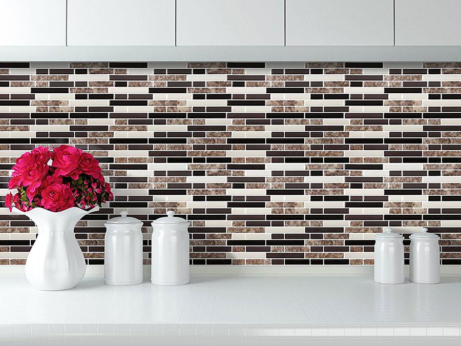 Modello di piastrelle adesive per cucina effetto mosaico n.07
