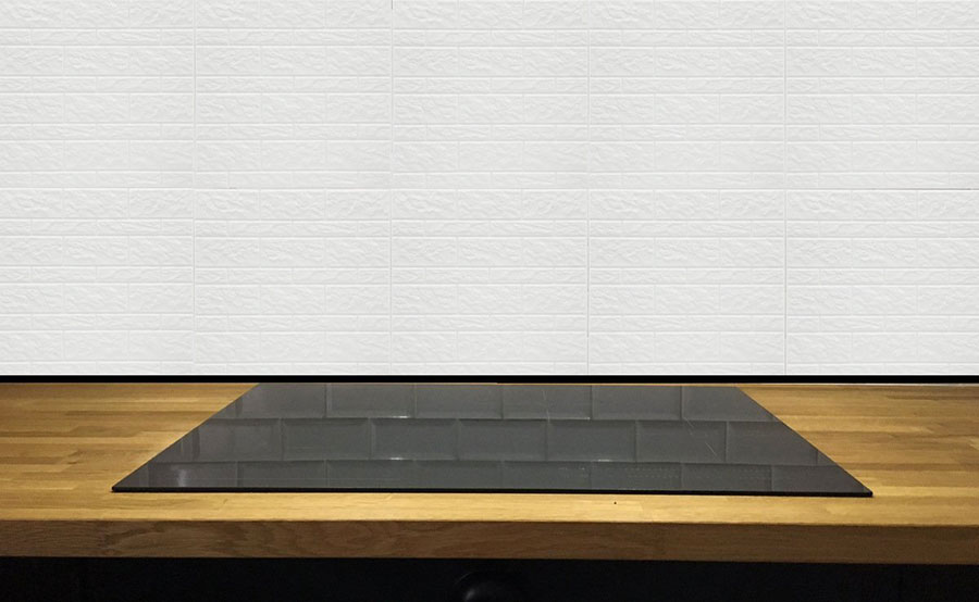 Modello di piastrelle adesive per cucina effetto pietra n.02