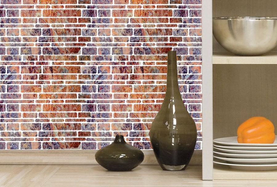 Piastrelle da parete adesive mattonelle adesive a adesivi for Rivestimenti cucina adesivi