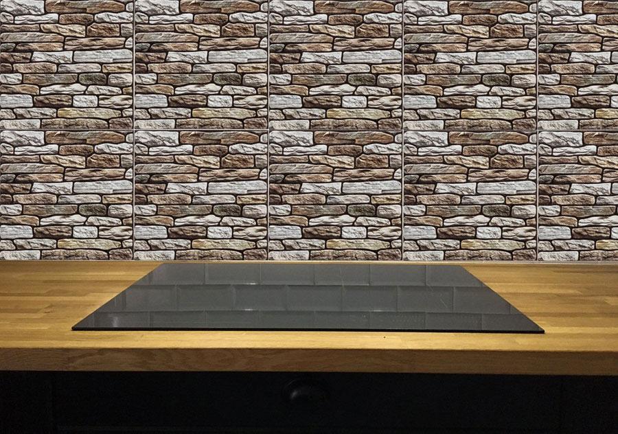Modello di piastrelle adesive per cucina effetto pietra n.04