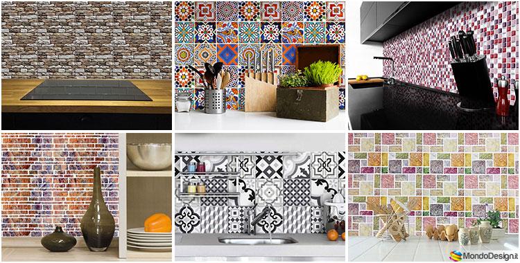 Piastrelle adesive per cucina 30 tipi di rivestimenti in for Rivestimenti adesivi per pareti cucina