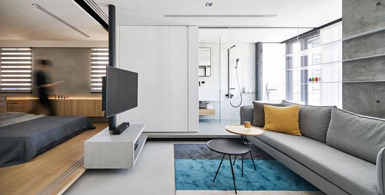 Piccola casa open space un progetto da sogno di 50 mq for Arredamento moderno casa piccola