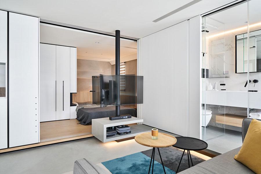 Arredamento per una piccola casa open space 3