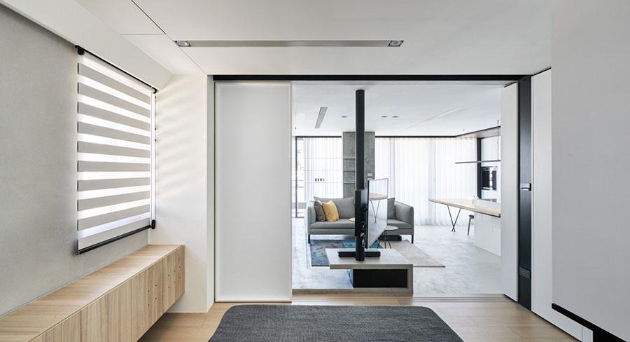 Arredamento per una piccola casa open space 7