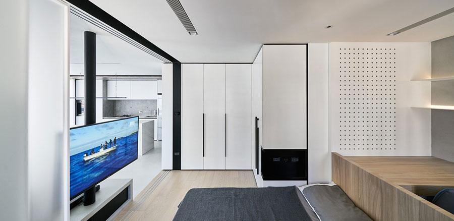Arredamento per una piccola casa open space 9
