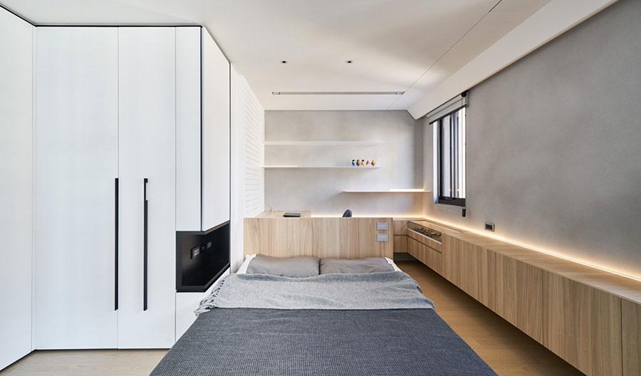 Arredamento per una piccola casa open space 10