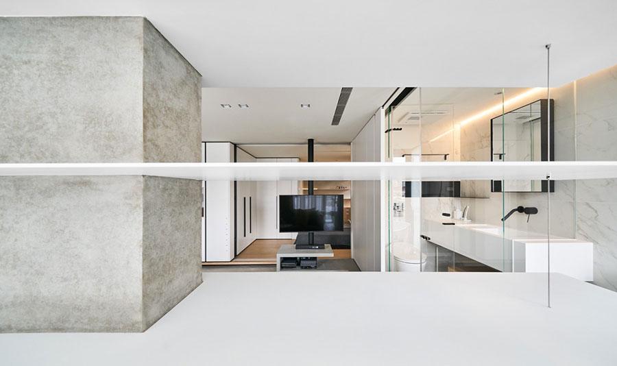 Arredamento per una piccola casa open space 13