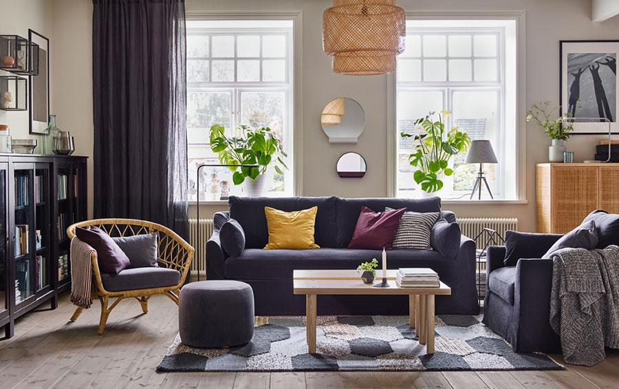 Idee per arredare un soggiorno con Ikea in stile classico moderno n.2
