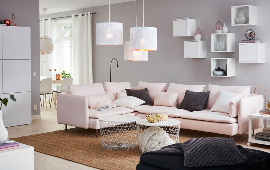 Idee per arredare un soggiorno con Ikea in stile moderno n.1