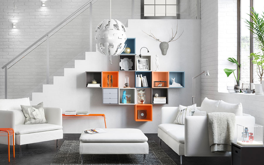Idee per arredare un soggiorno con Ikea in stile moderno n.3