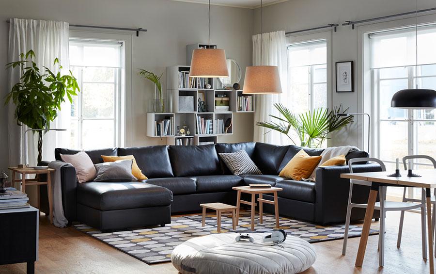 Idee per arredare un soggiorno con Ikea in stile moderno n.4