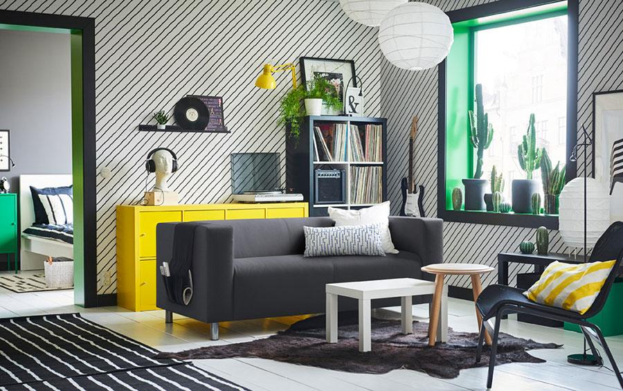 Idee per arredare un soggiorno con Ikea in stile moderno n.5