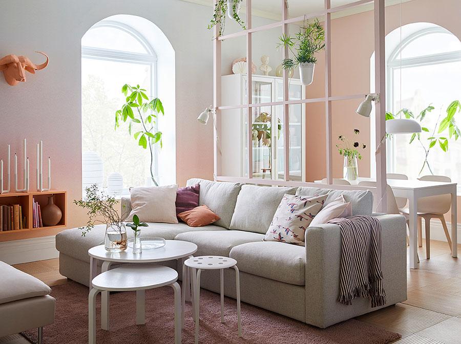 Idee per arredare un soggiorno con Ikea in stile scandinavo n.1