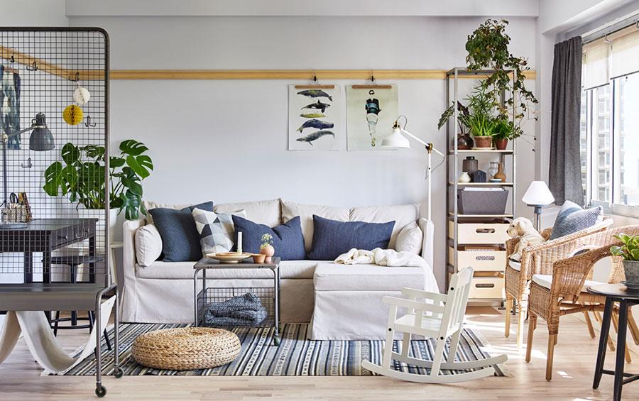Idee per arredare un soggiorno con Ikea in stile scandinavo n.2