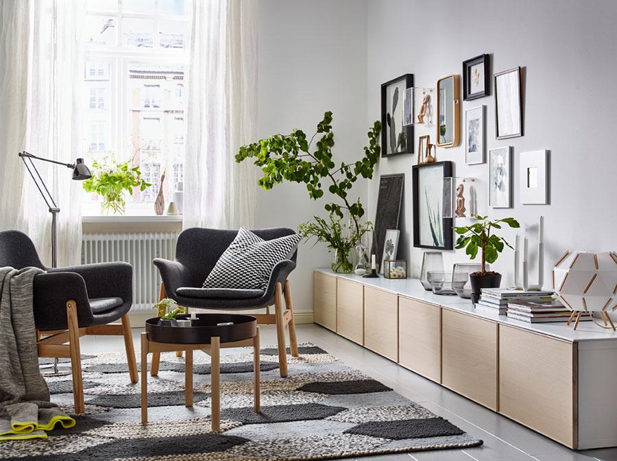 Idee per arredare un soggiorno con Ikea in stile scandinavo n.3
