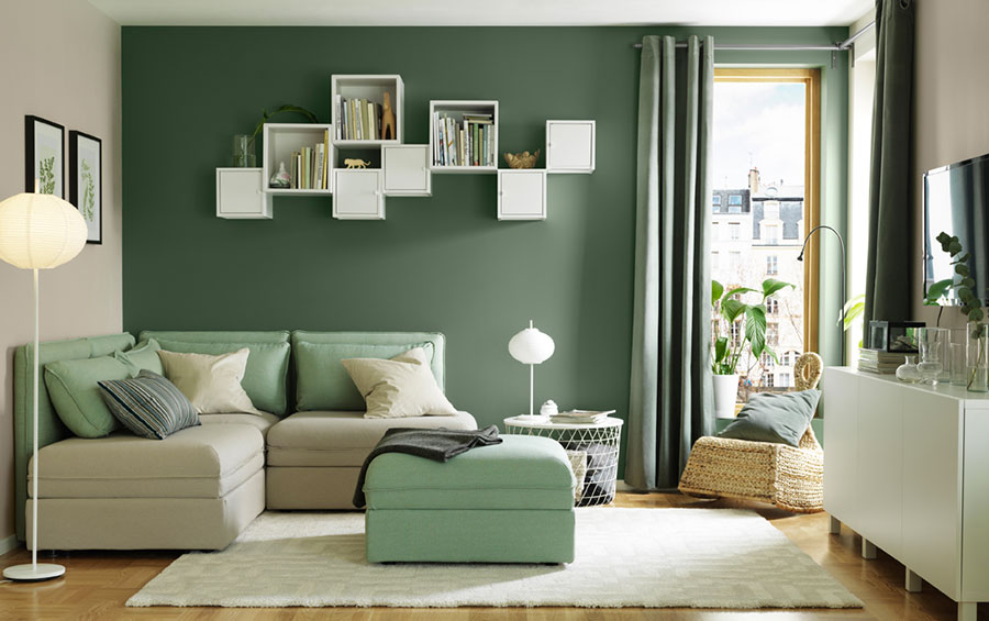 Idee per arredare un soggiorno con Ikea in stile scandinavo n.4