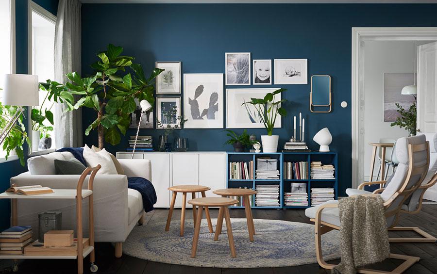 Idee per arredare un soggiorno con Ikea in stile scandinavo n.5