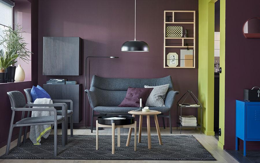 Idee per arredare un soggiorno con Ikea in stile vintage n.2