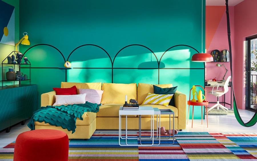 Idee per arredare un soggiorno con Ikea in stile vintage n.3