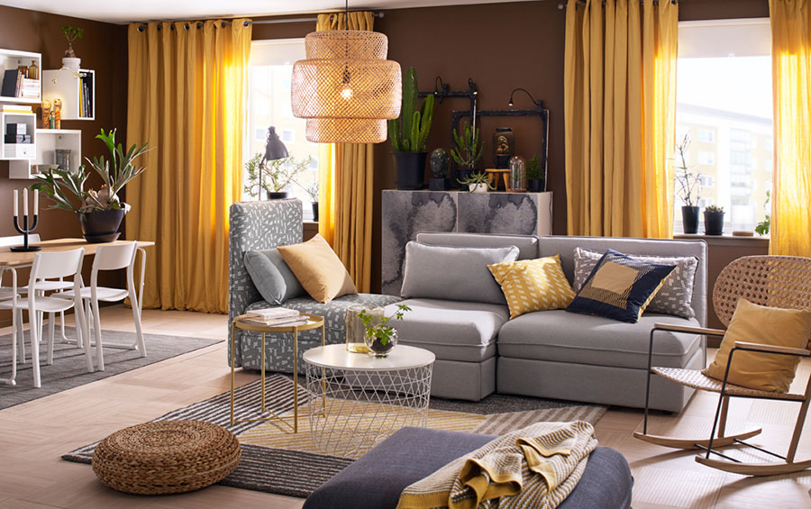 Idee per arredare un soggiorno con Ikea in stile vintage n.4