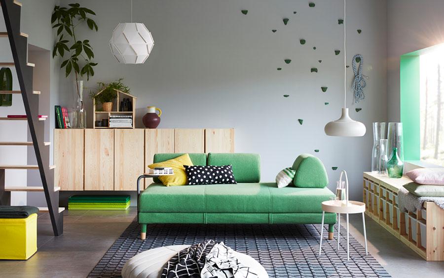 Idee per arredare un soggiorno con Ikea in stile vintage n.5
