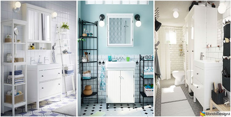 10 idee per arredare un bagno shabby chic ikea. Black Bedroom Furniture Sets. Home Design Ideas