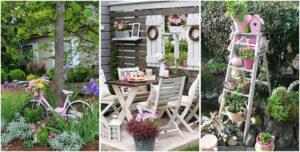 Giardino shabby chic 30 idee di arredamento originali - Arredare casa in modo economico ...