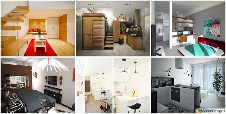 Come arredare un monolocale di 15 20 mq ecco 6 progetti di design - Aiuto per arredare casa ...