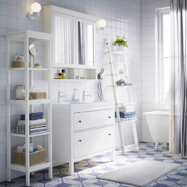 Idee per arredare un bagno shabby chic Ikea n.1